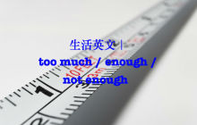 too much / enough / not enough 英文用法大比较